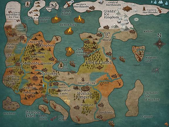 Broodslayers Realms Map